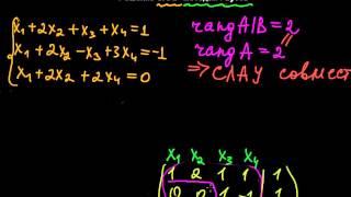 §38 Решение СЛАУ методом Гаусса