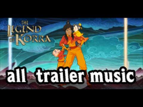 The legend of korra all trailer music books 1-4
