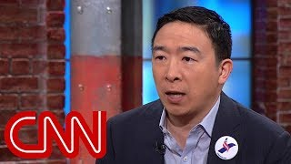 Presidential candidate Andrew Yang pushes for universal basic income