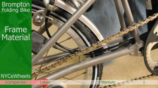 Brompton folding bike - Titanium or Steel