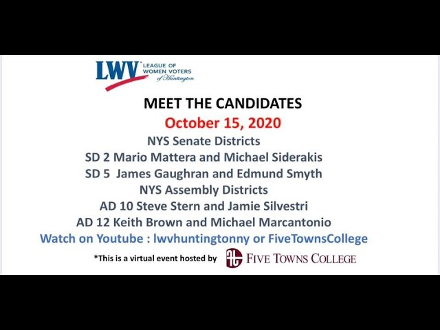 LeagUe of WOMEN VOTERS PRESENT MEET THE CANDIDATES NIGHT