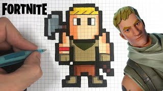HOW TO DRAW NOOB SKIN FORTNITE PIXEL ART