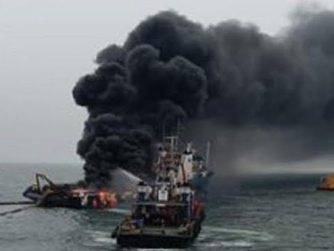 Visakhapatnam: Massive fire on Coast Guard's Offshore Support Vessel Coastal Jaguar