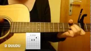 "How to play ""She will be loved"" Maroon 5 on guitar // tutorial // easy beginner"
