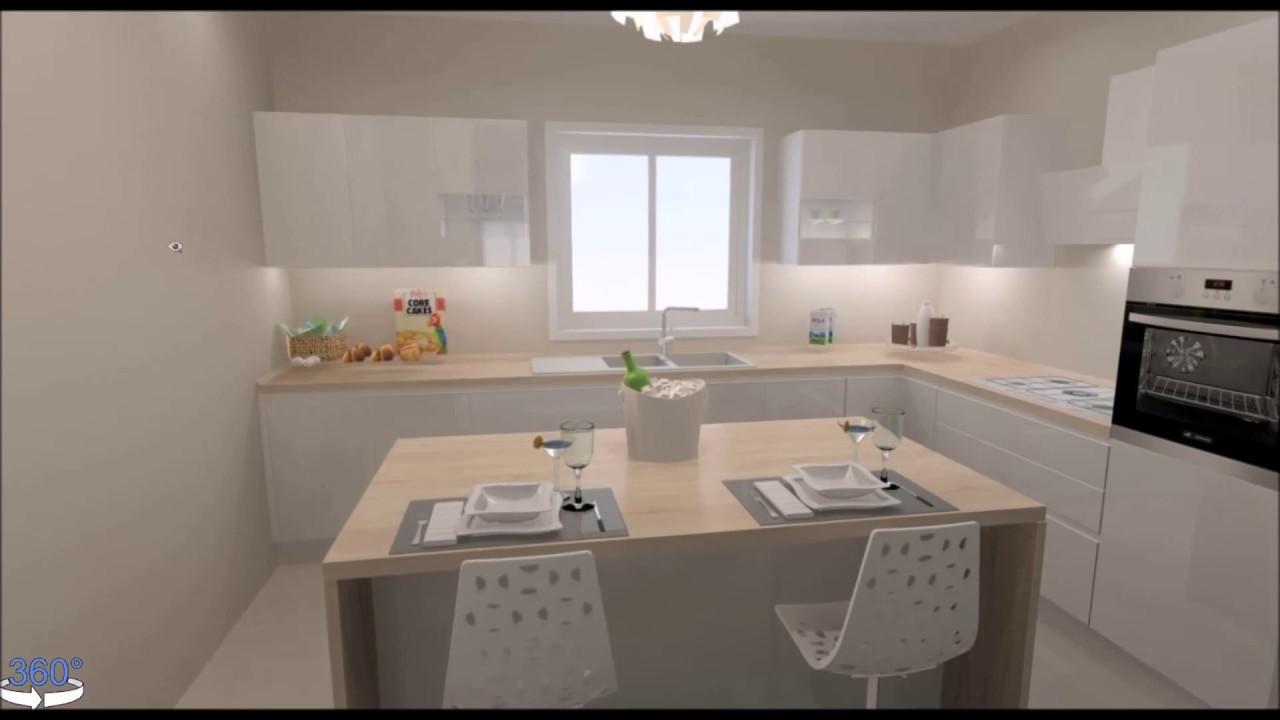 Progetto Cucina Sonia cucina collegata a living tramite porta ...