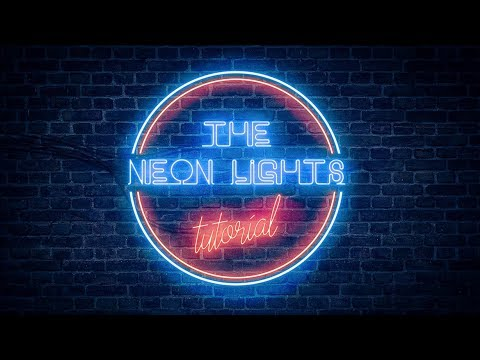 T Letter Wallpaper 3d Realistic Neon Light Effect In Photoshop Youtube