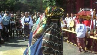 2013 笑祭り 江川小学校前 松瀬 獅子舞