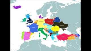 New and alternate future map of Europe