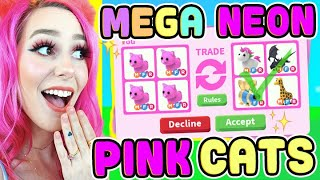 Trading ONLY MEGA NEON PINK CATS! Adopt Me (Roblox)