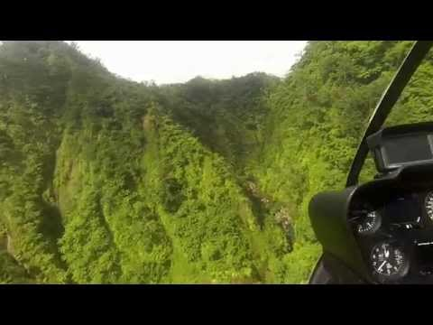 Vanuatu Canyon Helicopter Flight