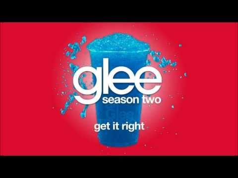 Get It Right  Glee HD FULL STUDIO