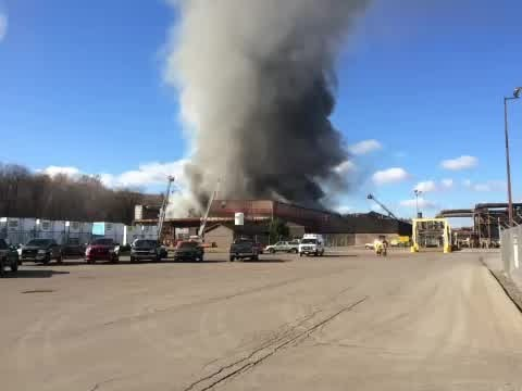 Ellwood City lithium fire causes explosions, fire still burning