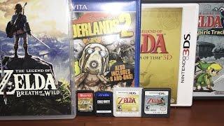 Nintendo Switch vs 3DS vs PS Vita vs DS - ULTIMATE COMPARISON!! Game Cartridges & Cases