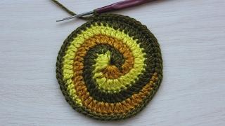 Вязание крючком. Урок 15.2 -  Круг спираль (завершение) | Spiral crochet circle motif