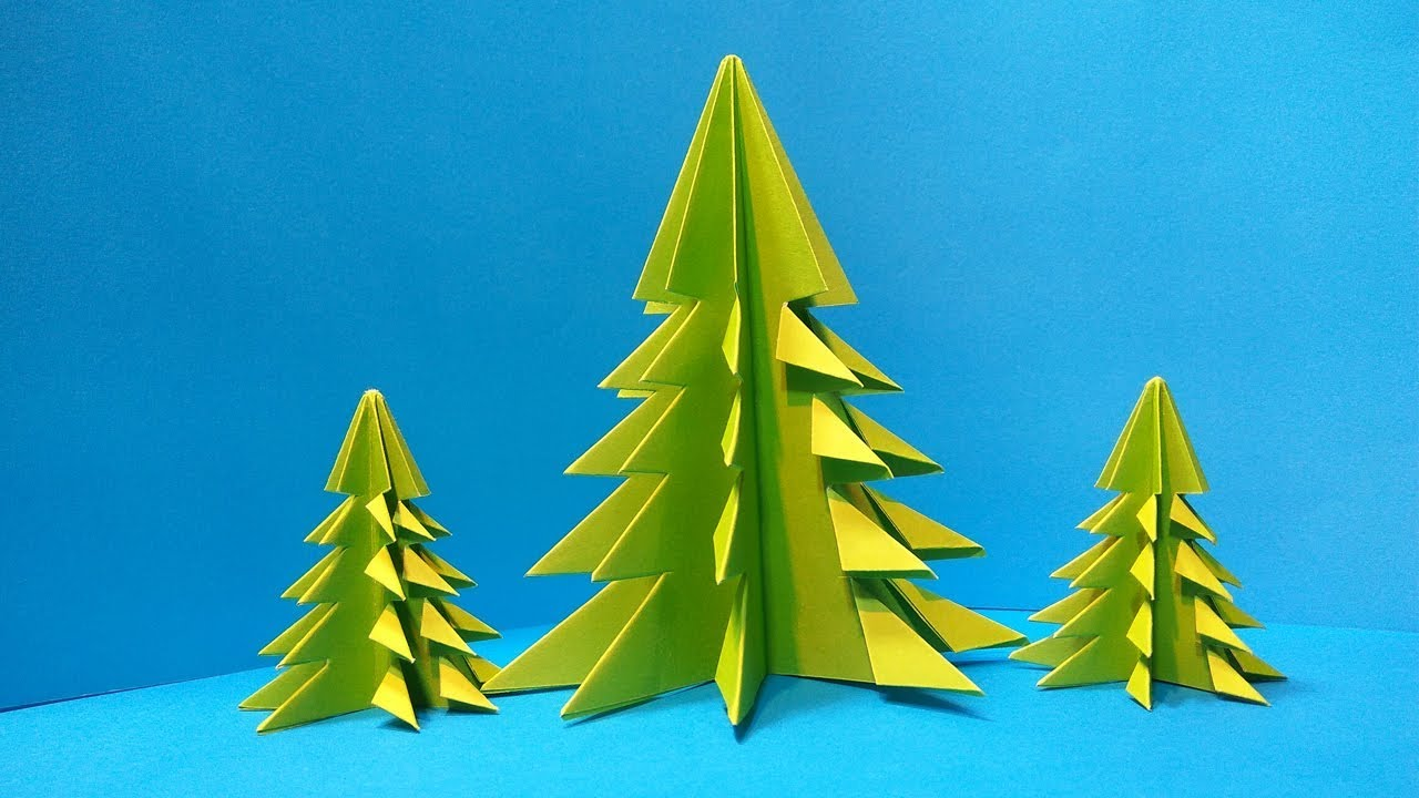 3d Paper Christmas Tree.3d Paper Origami Christmas Tree How To Make 3d Paper Xmas Tree Diy Easy Tutorial Step By Step