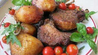 Картошка с Мясом в казане. Казан кебаб