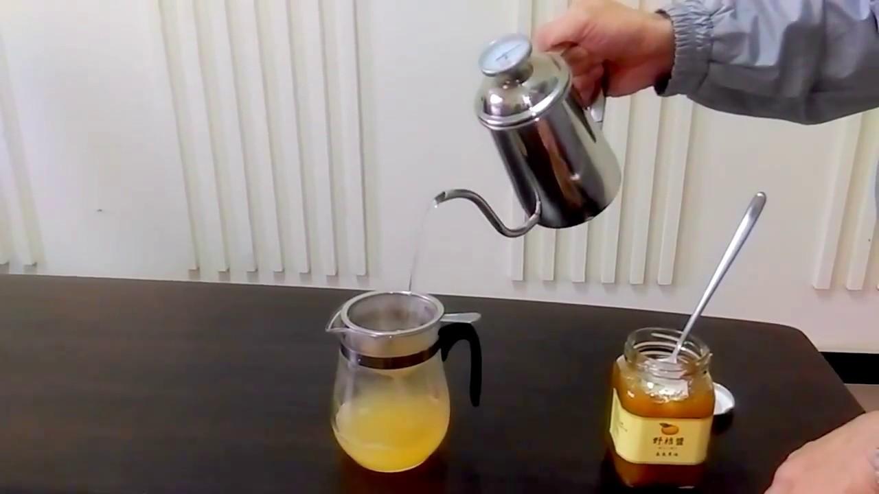 集集農場-熱野桔茶沖泡方法示範 - YouTube