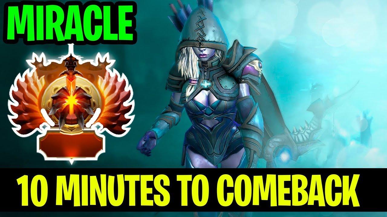 10 Minutes To Comeback Miracle Drow Ranger Dota 2 Youtube