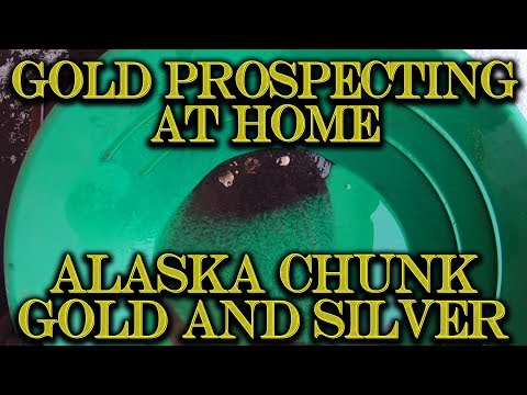 Gold Prospecting at Home #25 - Alaskan Chunk Gold and Silver Paydirt from eBay golden-fang_rarities