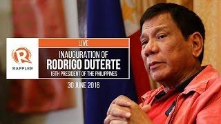 LIVE: Inauguration of Rodrigo Duterte