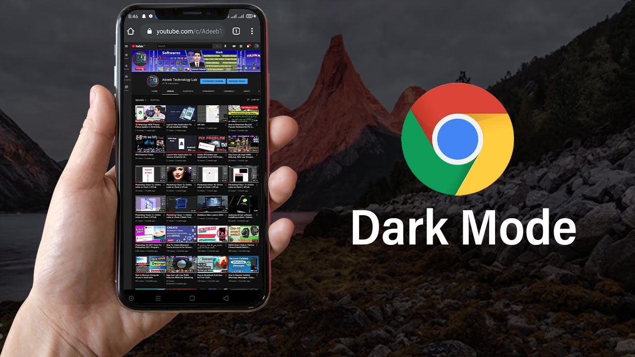 Chrome Dark Mode on Very Easy | Adeeb Technology Lab || chrome |