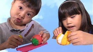 2歳の洗い屋さん 汚れが落ちる!包丁セット キッチン おままごと おもちゃ Kitchen Toy thumbnail