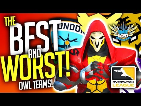 Overwatch - BEST and WORST Pro Teams! POWER RANKING! [Overwatch League]