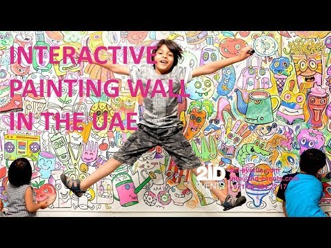 INTERACTIVE PAINTING WALL IN THE UAE - ID: 6161