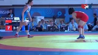 75 KG Round 1 - Adeline Gray (USA) vs Qian Zhou (CHN)