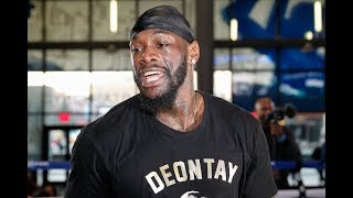"""DEONTAY WILDER WARNS TYSON FURY """"I hope he tries that silly sh#t with me"""""""