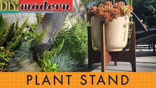 How to make a modern plant stand