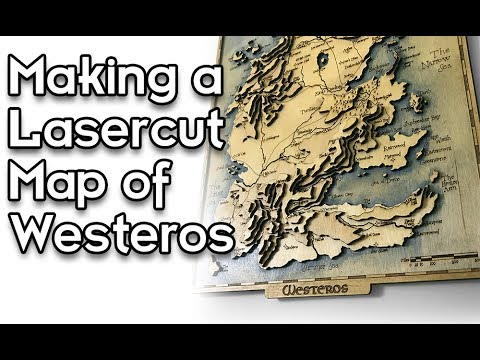 Topographic Map Game.Game Of Thrones Laser Cut Topographic Wooden Map Of Westeros Youtube