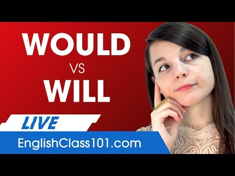 Correct Use of WILL and WOULD - What's the Difference? Basic English Grammar