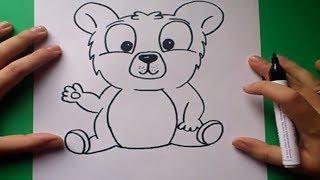 Como dibujar un oso de peluche paso a paso 4 | How to draw a teddy bear 4