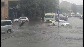На Улан-Удэ обрушился ливень
