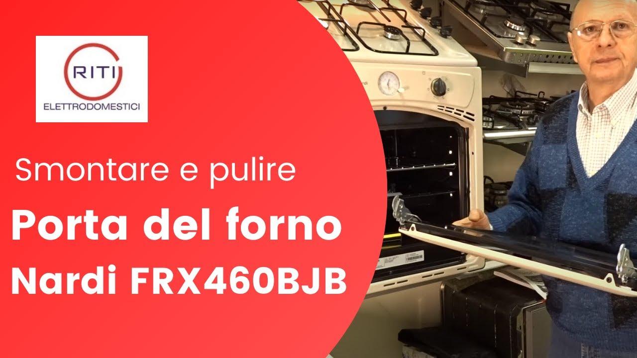 Smontare e pulire la porta del forno a triplo vetro nardi frx460bjb youtube - Smontare maniglia porta ...
