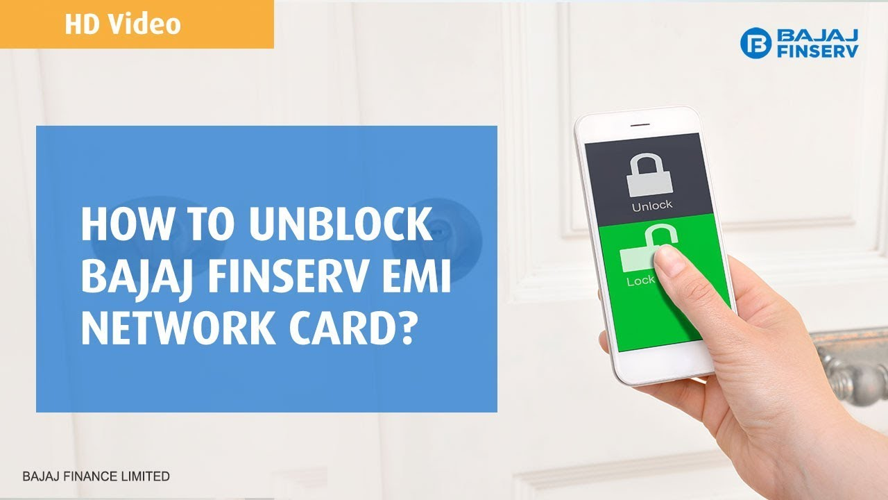 How to Unblock Bajaj Finserv EMI Network Card - Online / Offline