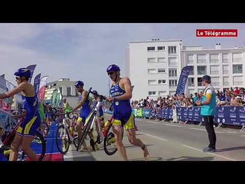 Triathlon de Quiberon D1H. Dorian Coninx gagne le titre de champion de France