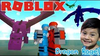 Dragon Rage in Roblox ESCAPE THE COLORED DRAGONS ? Roblox games for kids