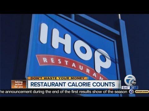 Restaurant calorie counts
