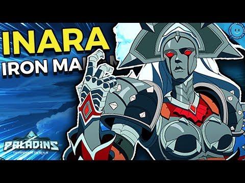 MY INARA NEARLY TOP DAMAGED! Warders Field Inara Gameplay and Iron Madam Skin! (Paladins)