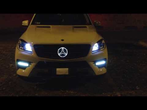 Mercedes benz ml led tuning rgb angel eyes exclusive for Illuminated star mercedes benz installation