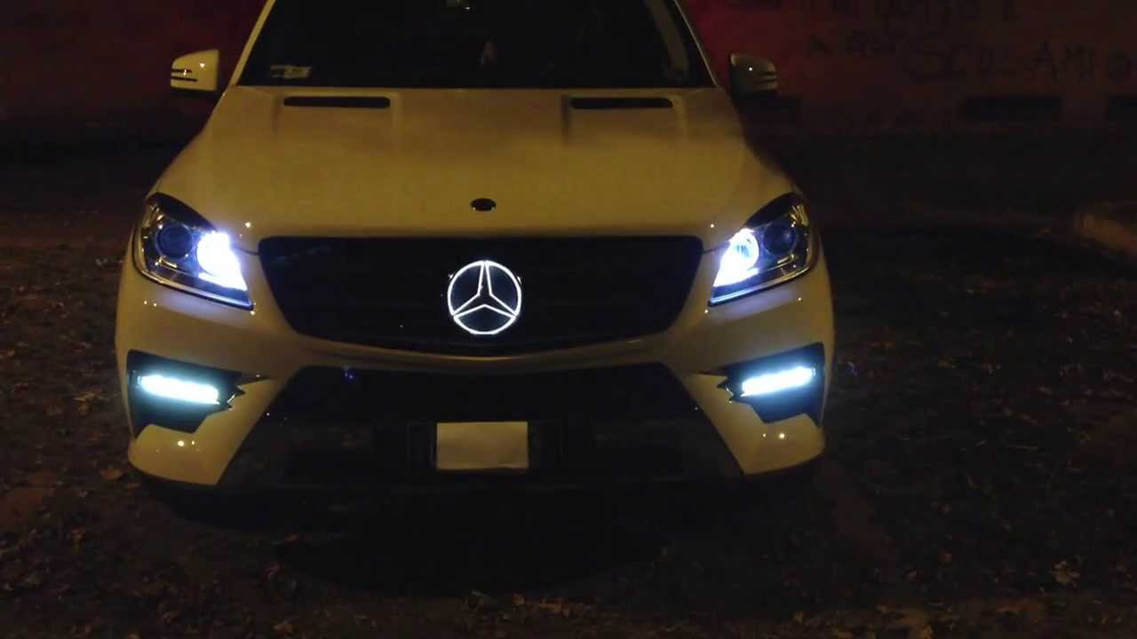 illuminated star mercedes ml w 166 youtube