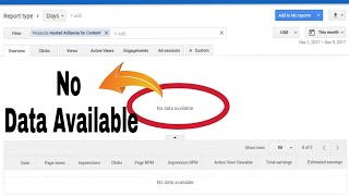 No Data Available..No Earning Showing..Google Adsense YouTube....Error Solution..Dec 2017