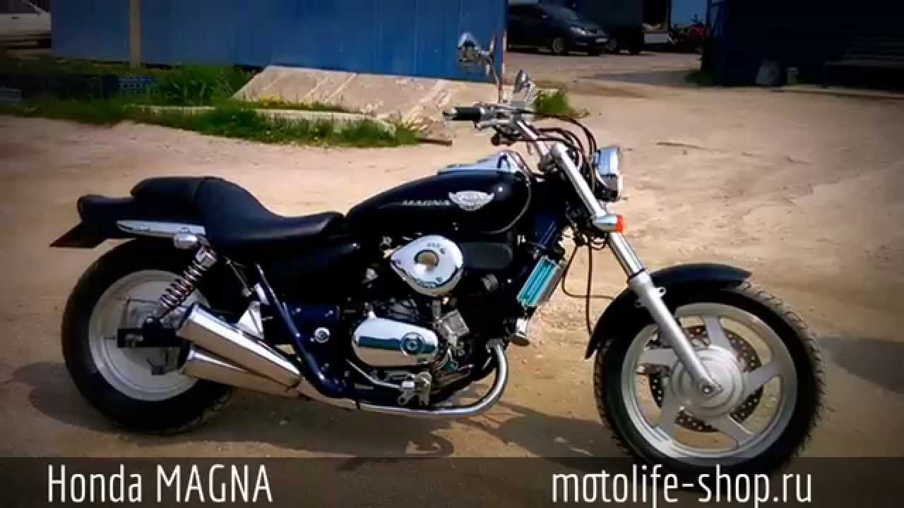 Honda magna solo seat with luggage rack - YouTube