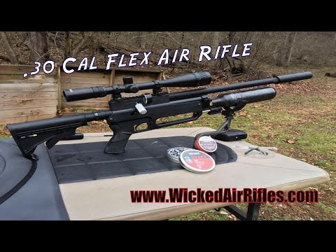 Wicked Air Rifles .30 cal Flex PCP Air Rifle