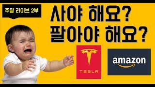 [미국주식] #아마존 #테슬라주식 사요? 팔아요? 애플…