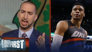 Nick Wright unveils how the Boston Celtics shocked Westbrook's Thunder | FIRST THINGS FIRST