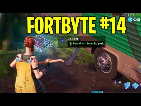 Fortnite - Fortbyte #14  Found Within An RV Park (Location)