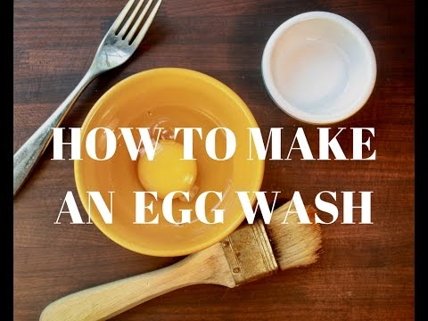 How to make egg wash for pastry